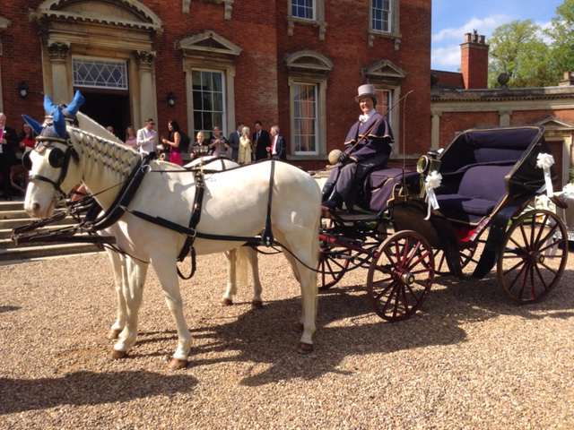 The Victoria horse drawn carriage - ideal to hire for weddings